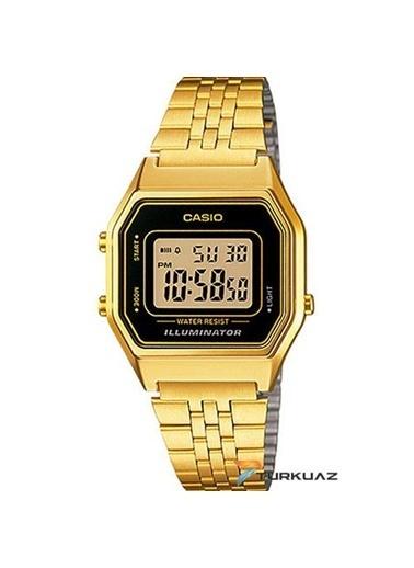 Casio La680wga-1d Retro Gold Dijital Bayan Kol Saati Siyah